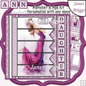 ELEGANT LADY PINK 7.5 Alphabet and Age Quick Kit Create Any Name