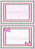 Baubles and Holly Christmas In Pink A5 Insert