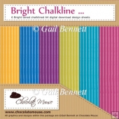 Bright Chalkline - 6 Bright toned A4 Digital Design Sheets