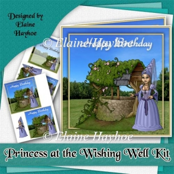 Princess at the Wishing Well Cardfront Kit