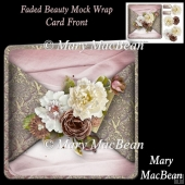 Faded Beauty Mock Wrap Card Front