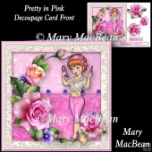 Pretty in Pink Decoupage Card Front