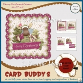 Merry Christmoose Square Card Front