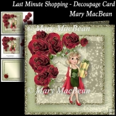 Last Minute Shopping - Decoupage Card
