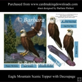 Eagle Mountain Scenic Topper with Decoupage