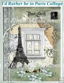 I'd Rather Be in PARIS Collage for Cards, Journals, Crafts