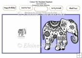 Colour Me Mandala Elephant - Cut & Fold Card