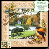 Stourhead An Enchanted Garden 8x8 Floral Decoupage Card Sheet