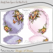 Butterfly Garden Toppers & Text Plates #3&4