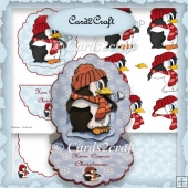 Penquin easel card set