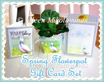 Spring Flowerpot Gift Set with BONUS Tags, Candy Wrapper, Card