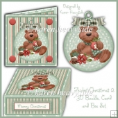 Thicket Christmas 2 3D Bauble Card And Box Set