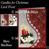 Candles for Christmas Teardrop Side Panel Card Front