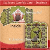 Scallloped Gatefold Card I love Dogs 2