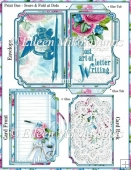 Cottage Chic Pen Pal Side Opening Pocket Greeting Card Set