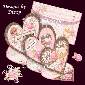 Beary Special Triple Heart Easel Card