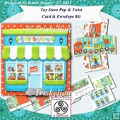 Toy Store Pop and Twist Birthday Card with Decoupage