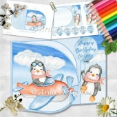 Little Pen-Wings D Flap Card