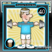 Beer & Exercise Mini Kit Birthday/Fathers Day