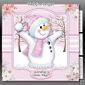 Pink Chilly Snowman Mini Kit
