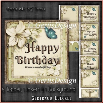 Card Kit 5 Toppers For Diffrent Occasions 1343