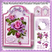 Rose Romantica Multi Occasion Shaped Card Kit