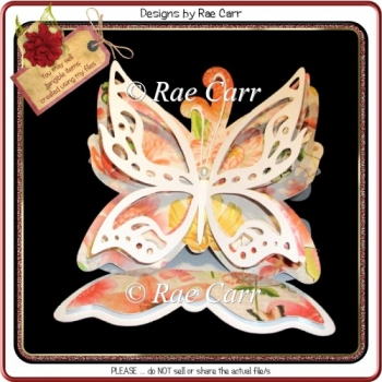 485 Butterfly Easel Card *Multiple MACHINE Formats*
