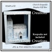 Church Keepsake Display/Gift Box Template