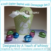 3 Easter Baskets with Decoupage Set 3