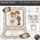 Bracket Easel: The Happy Couple