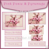 Pink Posies Topper & Pyramage