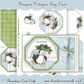 Penguin Octagon Tag Card