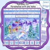 MAGICAL CHRISTMAS NIGHT 7.5 Quick Card Kit Create Any Name