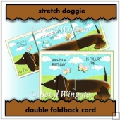 Stretch Doggie Double Foldback Card