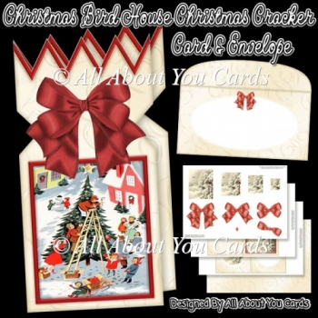 Christmas Bird House Christmas Cracker Card