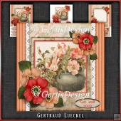 Vintage Stripes and Flowers Card Kit 1070