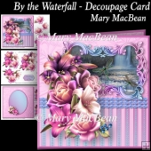 By the Waterfall Decoupage Card