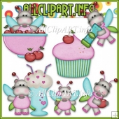 Sweet Stuff Fairy Hippos 1 Commercial Use Clip Art