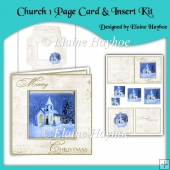 Christmas Church One Page Card & Insert Kit