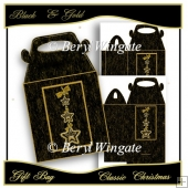 Black & Gold Classic Christmas Gift Bag