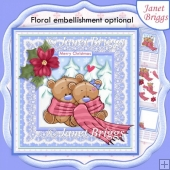 CHRISTMAS SNUGGLE BEARS 8x8 Decoupage & Insert Kit