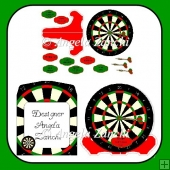 DARTBOARD PLATE CARD
