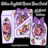 Lilac English Roses Gift Box Card