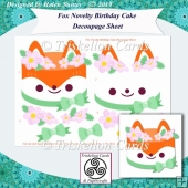 Fox Novelty Birthday Cake Decoupage Card Topper