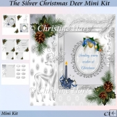 The Silver Christmas Deer Mini Kit