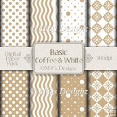 Basic Coffee and White Paper Pack