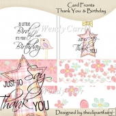 Card Fronts Birthday & Thank You(Retiring in July)