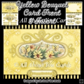 Yellow Bouquet Card Front and Insert