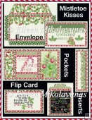 Mistletoe Kisses Coin Envelope Interactive Flip Card Set