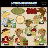 Annabelles Christmas Basket ClipArt Collection